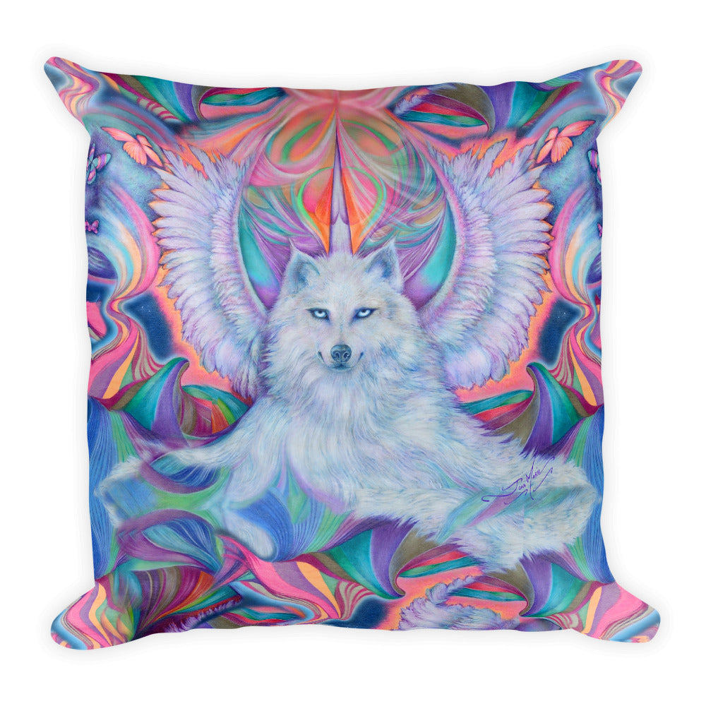 Fantasy Wolf Throw Pillow