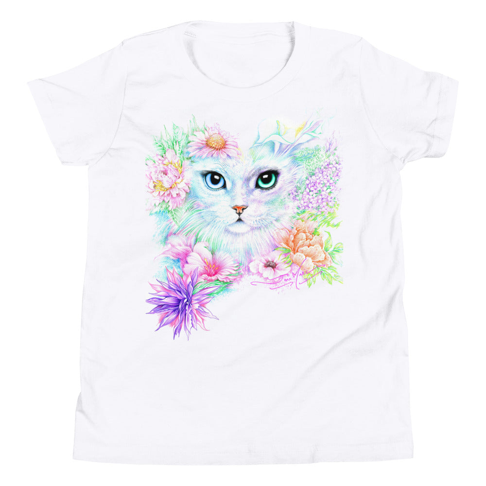 Kitty Angelina, Youth Short Sleeve T-Shirt