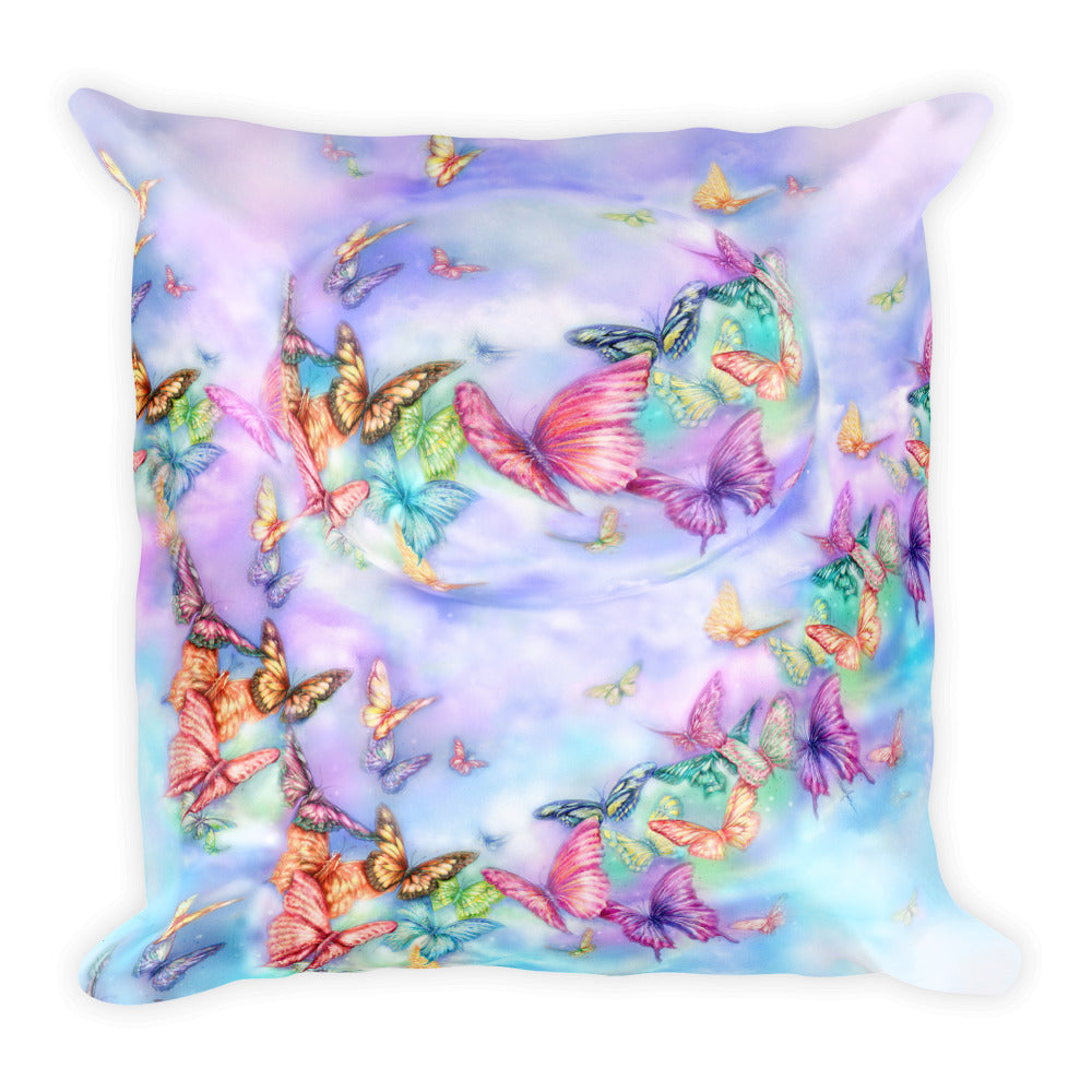 Butterfly Lover's Square Pillow