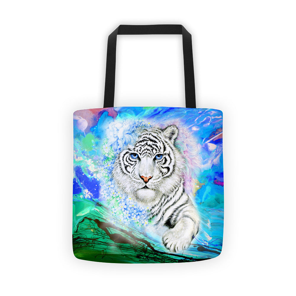 Fantasy White Tiger Tote Bag