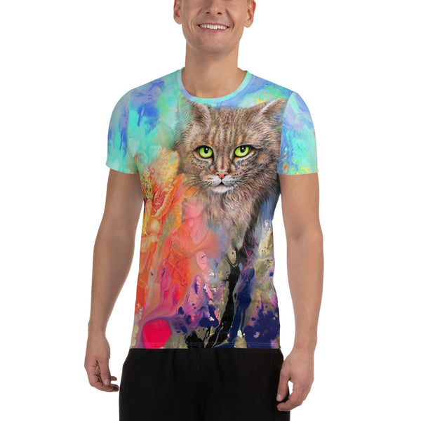 Maine Coon Cat, All-Over Print  Athletic T-shirt