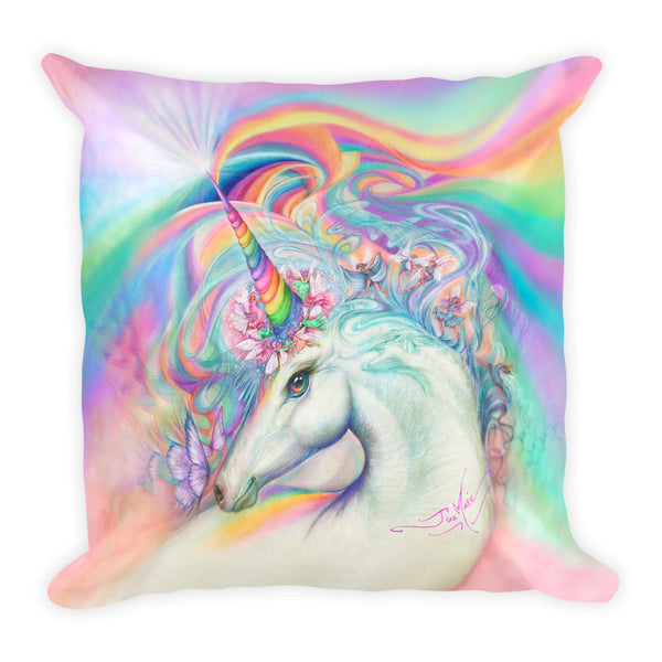 Magical Unicorn Square Pillow