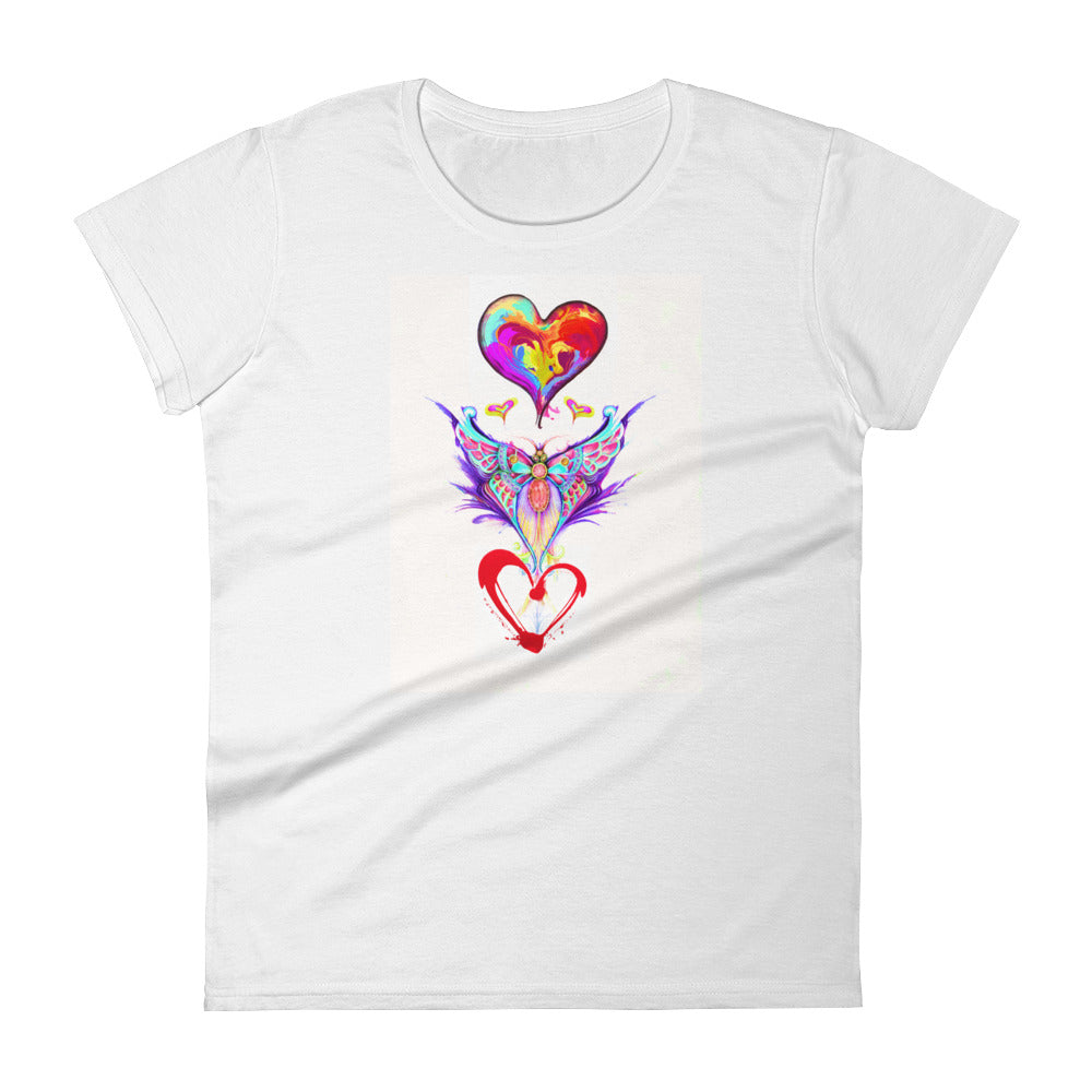 Heart Freedom! Women's short sleeve t-shirt
