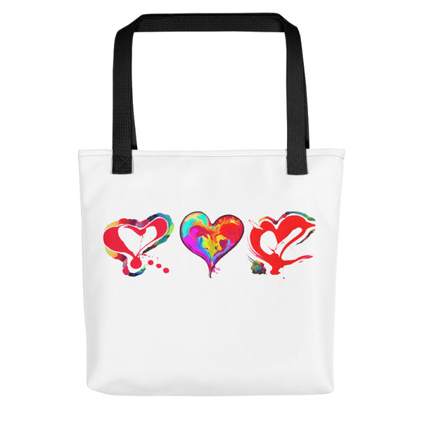 3 Hearts of LOVE!!! Tote bag