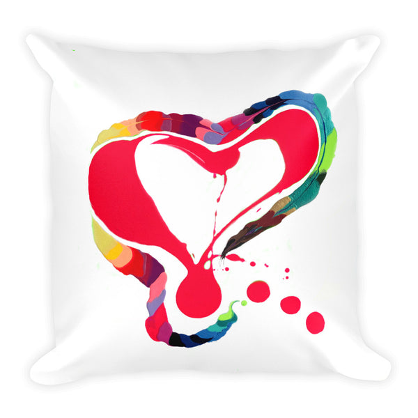 Heart Love, Square Pillow