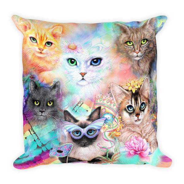 Crazy Cat Lady, Square Pillow