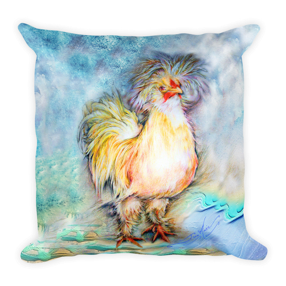Dragon/Chicken ...FUN! Request any combination of designs on FRONT/BACK of Pillow