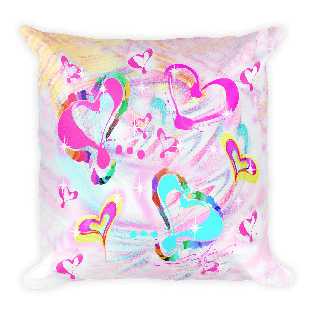 Heart LOVE Square Pillow