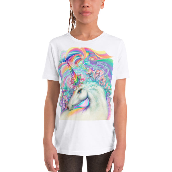 Magical Unicorn Fairy Parade, Youth Short Sleeve T-Shirt