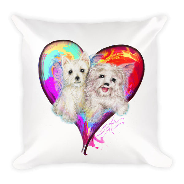 Doggies Square Pillow, 18