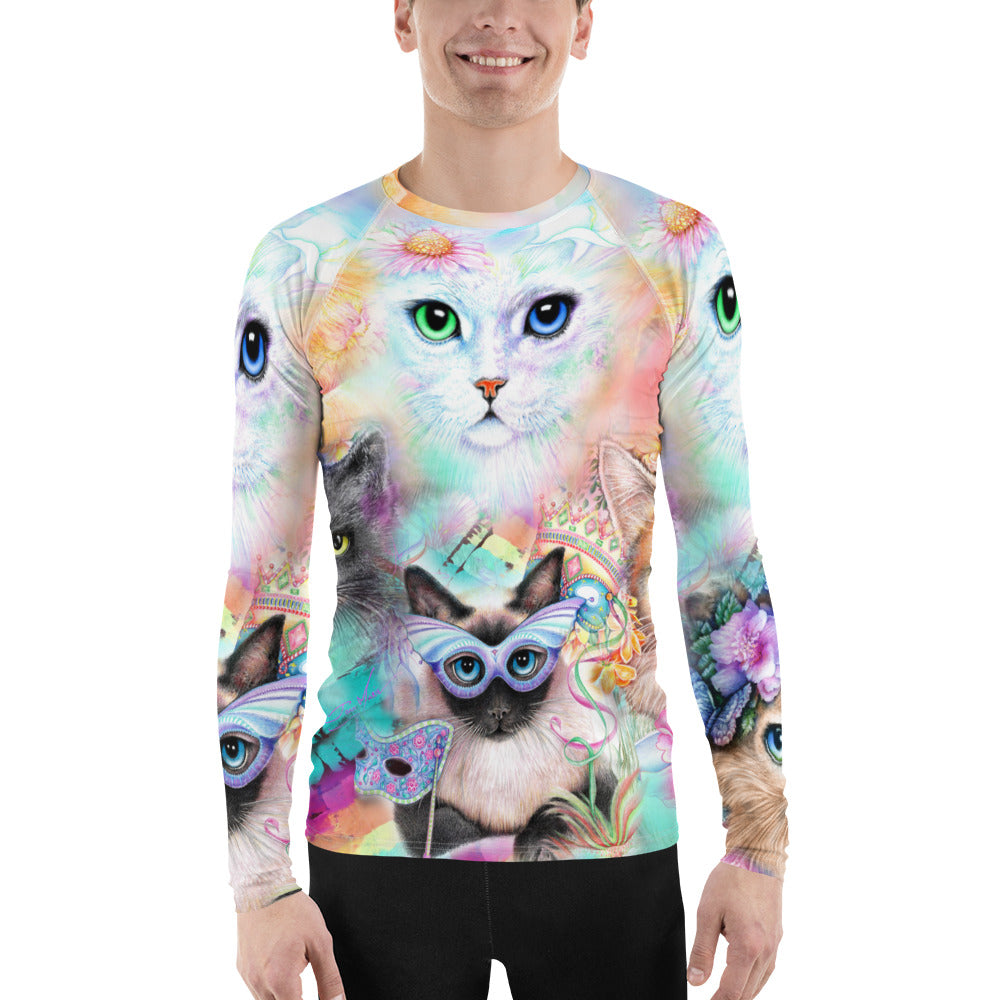 Crazy Cat Lover Fitted Long Sleeve Tee