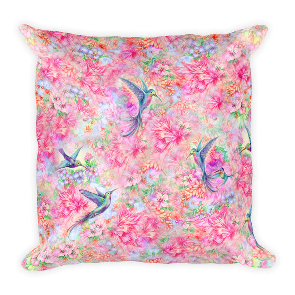 Hummingbird Square Pillow