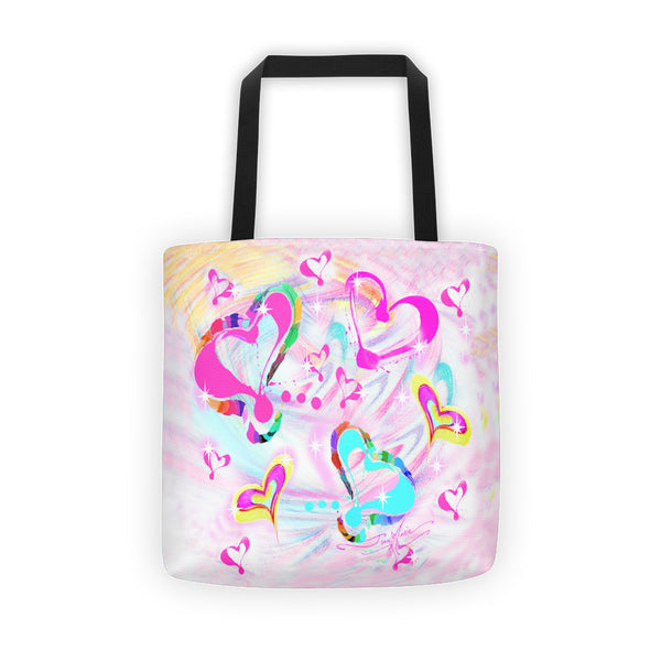 Hearts Tote bag