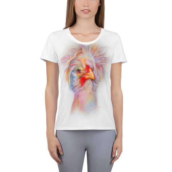 Bedhead Chicky!!...All-Over Print Women's Athletic T-shirt