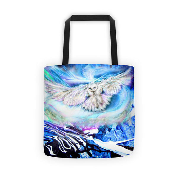 Owl, White Owl Tote bag