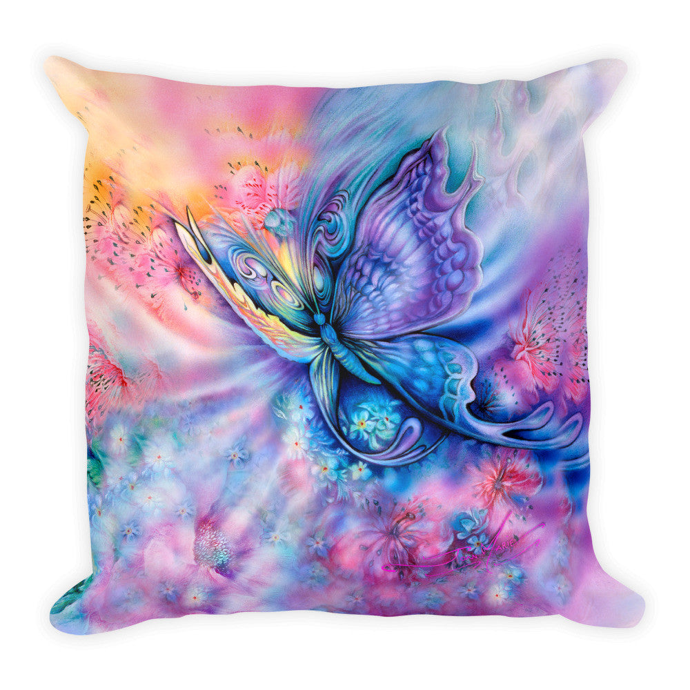 Soaring Free, Butterfly Square Pillow