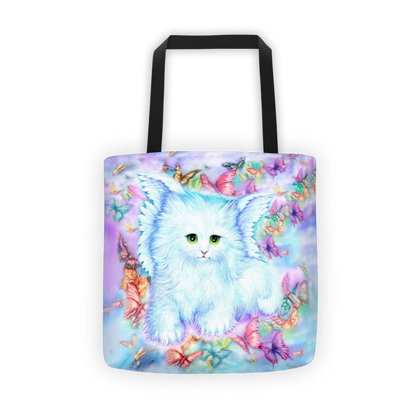 Cat, Angel Kitty Tote bag