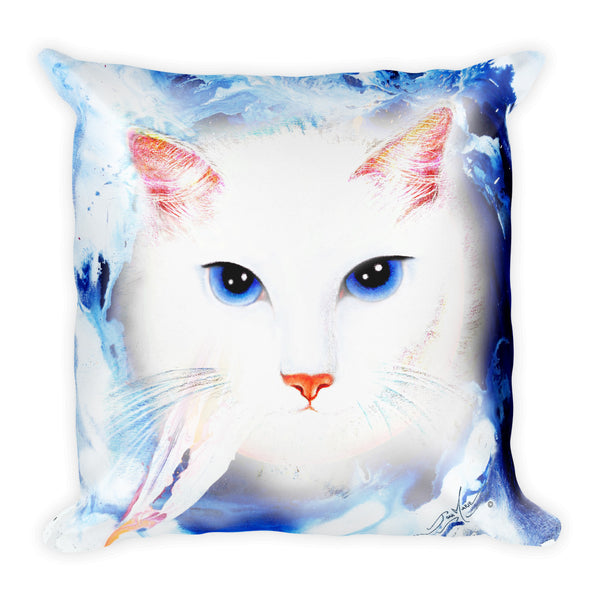 White Kitties, Square Pillow