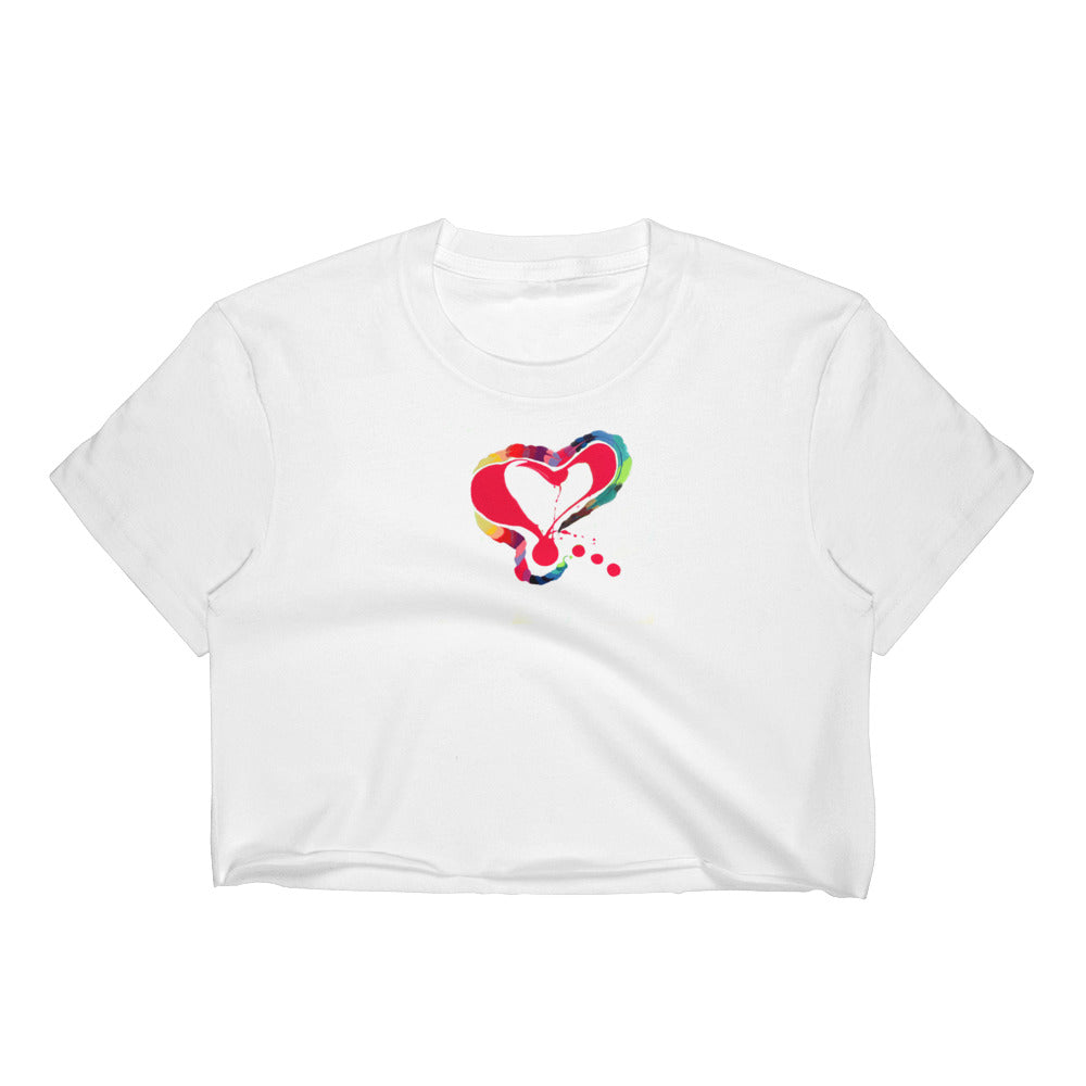Heart Love, Women's Crop Top