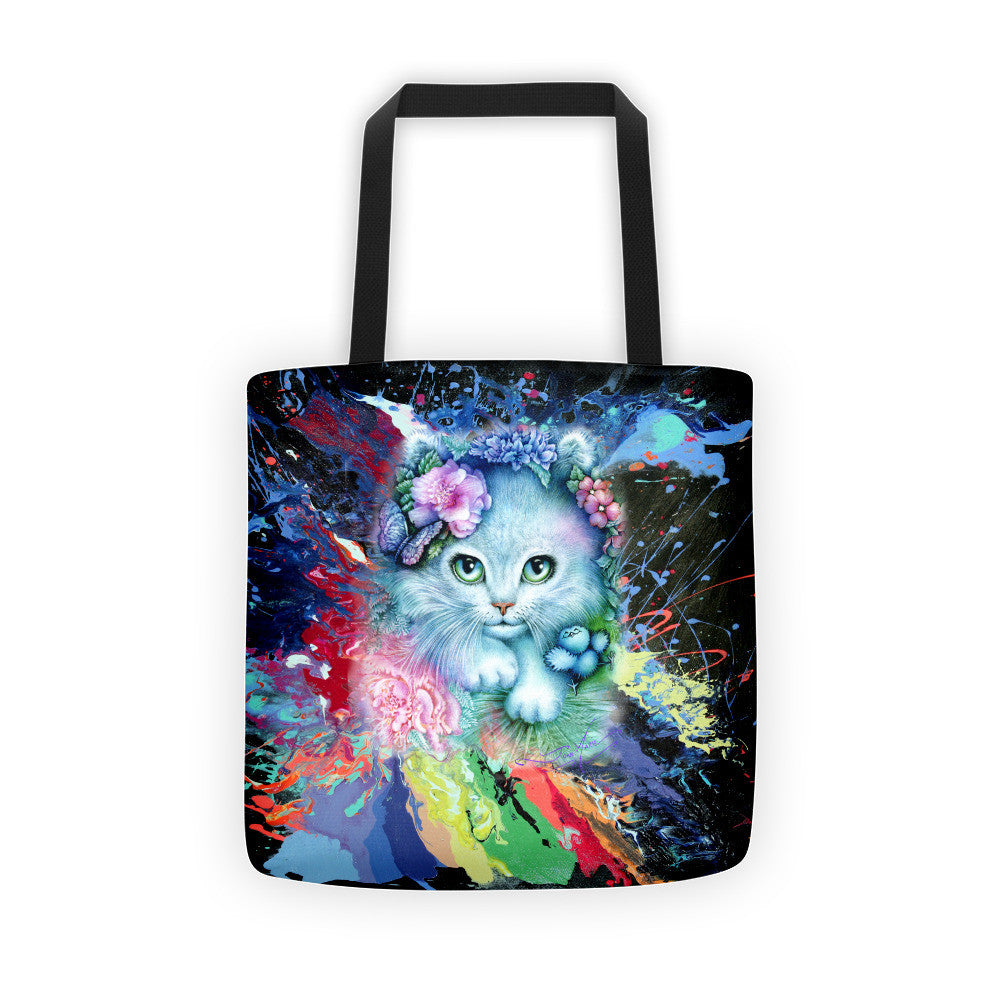 Cat, Precious Blue Kitty Tote bag