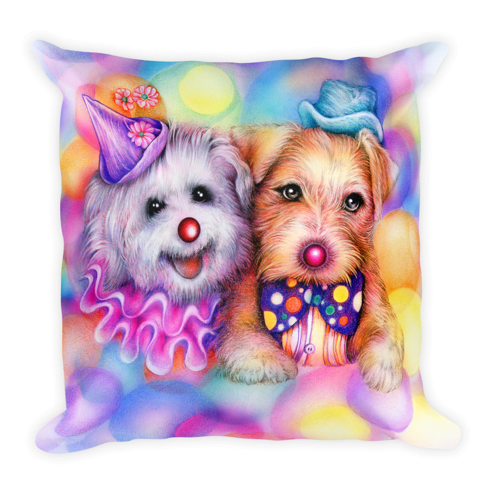 Puppies Square Pillow