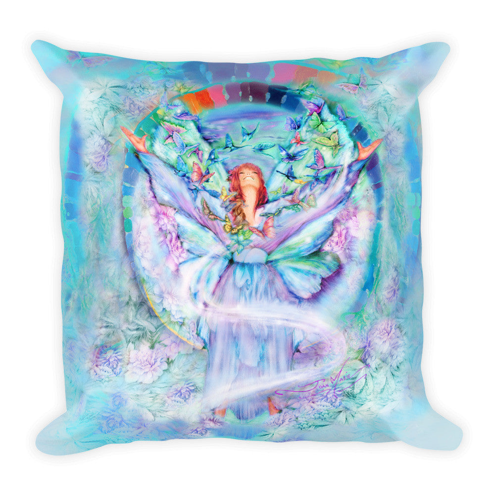 Thankful Angel !!...Square Pillow