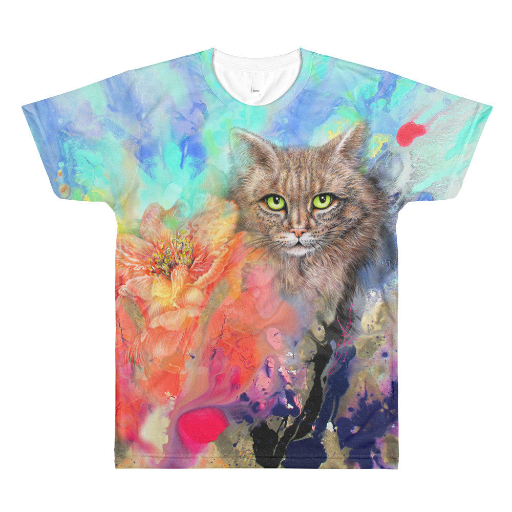 Cat Lover's Maine Coon, Sublimation Unisex crewneck t-shirt