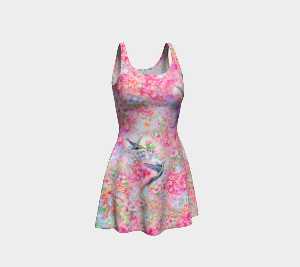 Hummingbird Flare Dress