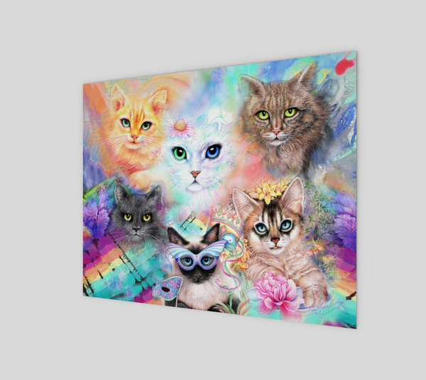 Crazy Cat Lady 8x10 Art Print