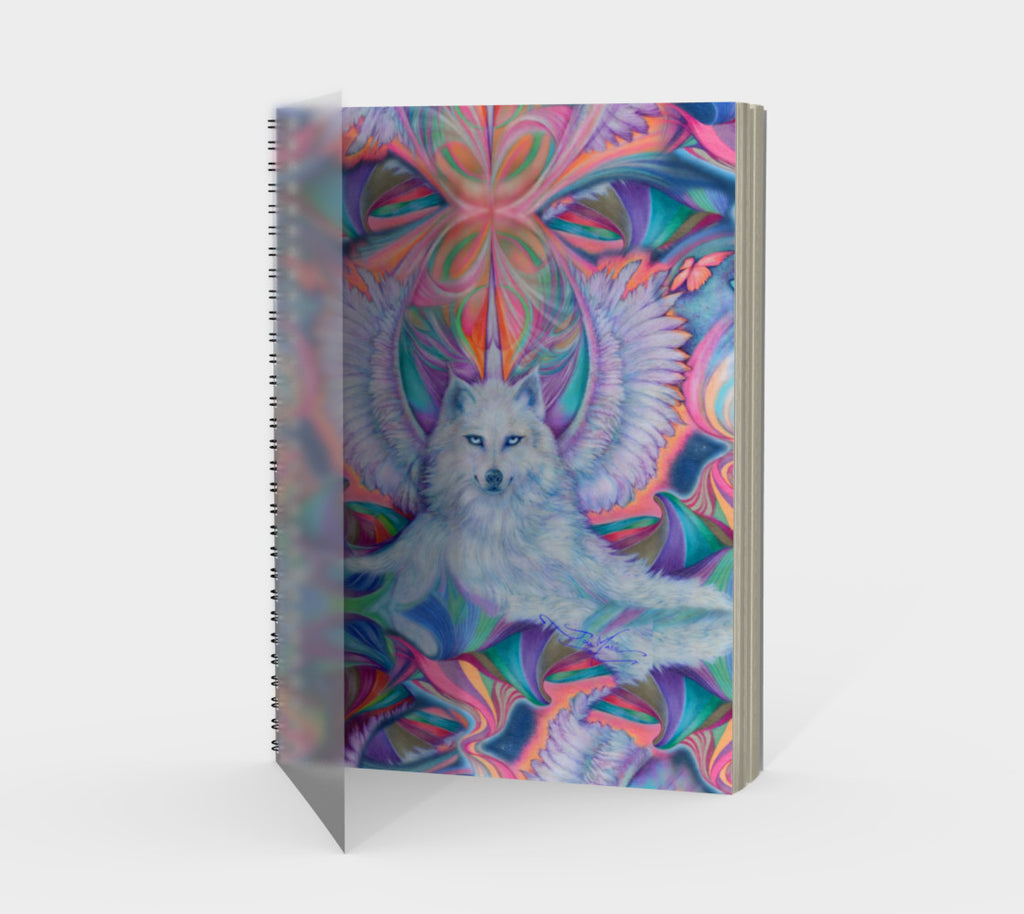 Double Wolf Spiral Notebook