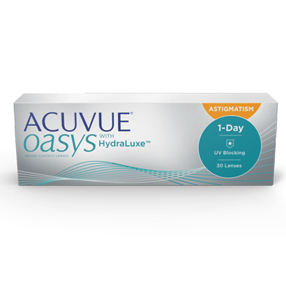Added Acuvue Oasys 1-DAY Astigmatism with HydraLuxe