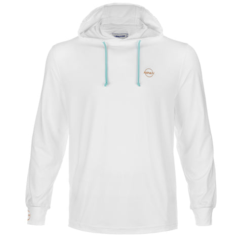 Aloha UV Men's & Women's UPF 50+ Sun Protection and Performance Hoodie, White, L