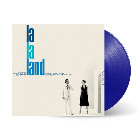 La La Land Original Motion Picture Soundtrack - Composer Justin Hurwitz Autographed Blue Vinyl