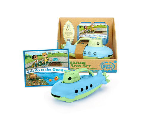 Set Submarino Océanos a Salvo + Libro Green Toys