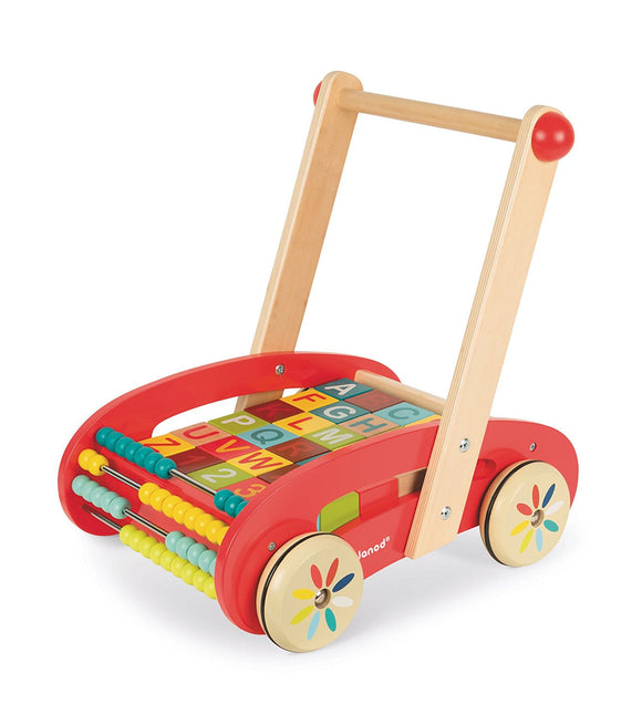 Juego ABC Walking Trolley Con Bloques de Madera Janod