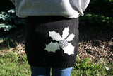 Kids SkiBums Bum Warmer with Holly on Black Skirt