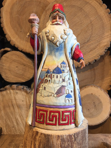 Greek Santa Figurine