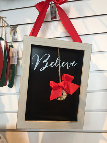 'Believe' Shadowbox Plaque