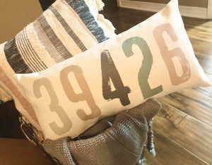 Personalized Zip Code Pillow Shams