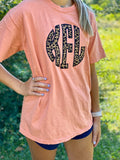Personalized Leopard Print Teracotta Tee