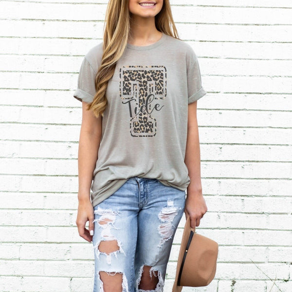 Leopard School Theme Stone Marble Graphic Tee