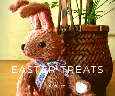 Hoppity Easter Bunny mohair jointed limited-edition Robin Rive rabbit
