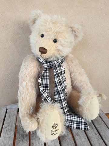 Jeremy, Robin Rive bear, 44cm, cream distressed mohair, ooak