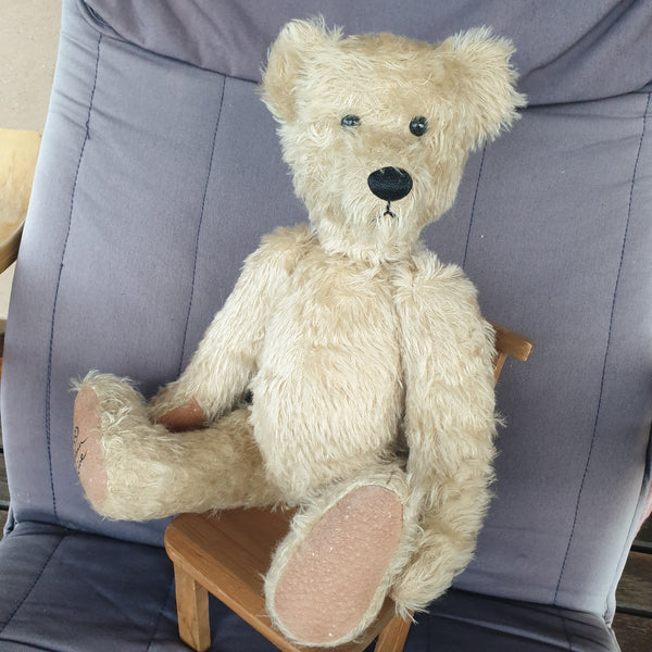 Tommo, Robin Rive bear, 44cm, cream distressed mohair, ooak
