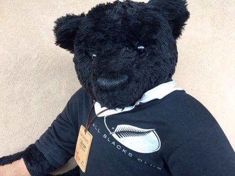 Rugby Supporter Black - KiwiCurio-Robin Rive-Teddy Bears-Limited Edition