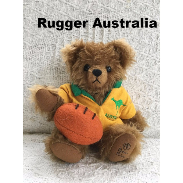 Rugger Ireland - KiwiCurio-Robin Rive-Teddy Bears-Limited Edition
