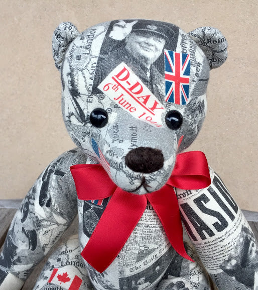 D Day Bear - KiwiCurio-Robin Rive-Teddy Bears-Limited Edition