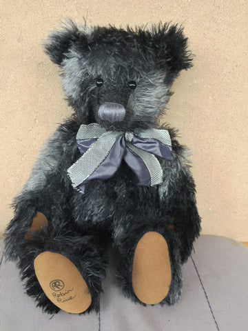 Chenille, robin rive  black collectible bear