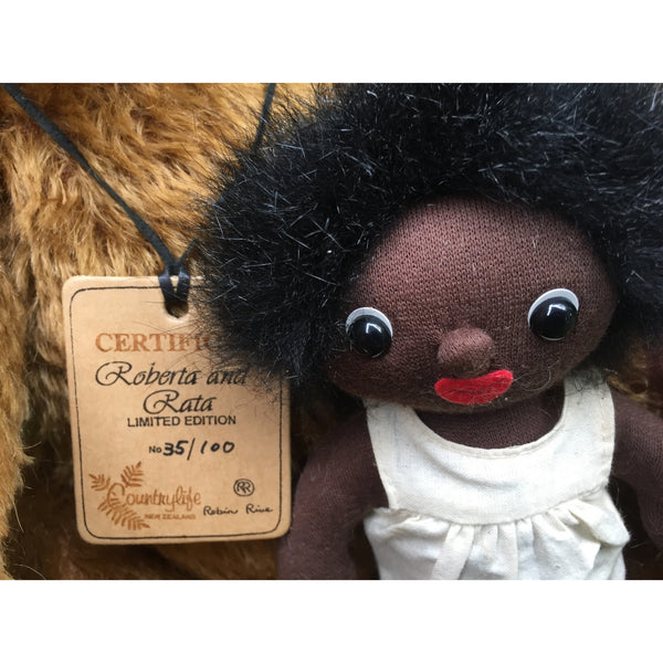 Roberta & Rata - KiwiCurio-Robin Rive-Teddy Bears-Limited Edition