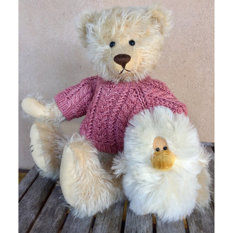Susie and Snowflake - KiwiCurio-Robin Rive-Teddy Bears-Limited Edition